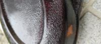キャンディー塗装なのですが下にフレークを入れ過ぎてしまいある程度クリアーで埋め中研ぎしキャンディーいぢ入れました釜やはりフレークの荒さがそのまま出ています。 この状態で研磨すると色が剥げますので自分...