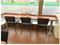 ファミリーマートのイートインコーナー にあるカウンターテーブルを家にも設置したいのですが、このテーブルはどこのメーカーで、どれくらいの物なのか分かりませんか?