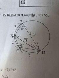 四角形ABCDの面積の求め方を教えてください。