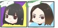 坂道⊿イラストクイズPart4 画像は現役または元坂道メンバーの  イラストです  左右それぞれに誰でしょう?