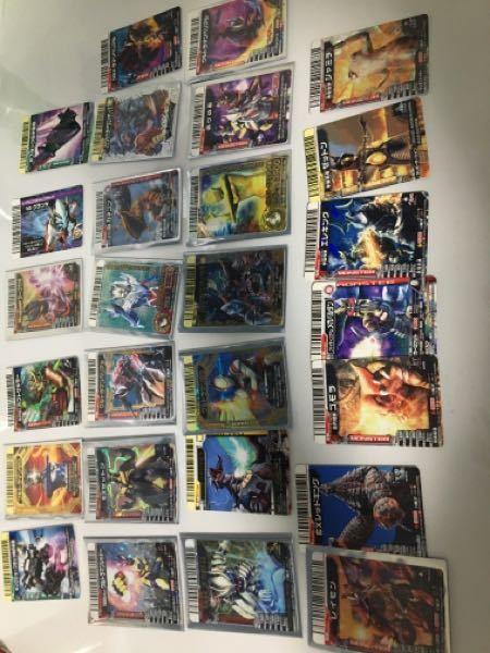 ウルトラマンのゲームである大怪獣バトルに詳しい方に質問したいです。僕は昔大怪獣バトルというカードゲームをやっていて、大人になった今必要ないと感じたのでメルカリで売れるものは売ろうと思っています。...