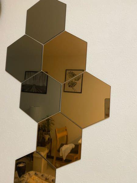 【至急】 IKEAのこの鏡の剥がし方を教えてください! 賃貸なのでなるべく壁を傷つけたく無いです、、、