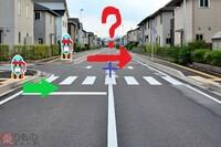 信号機の無い横断歩道に人が渡ろうと立っていたら、車が止まるのは当然ですが、 横断歩道が無い側から渡ろうとしている人が立っている場合は止まらない違反ですか?