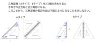 三角定規を2つ組み合わせるとそれぞれ正方形になる。 このことから、三角定規の各辺の比は下図のようになることを示せ。 分かる方いたら教えてほしいです。
