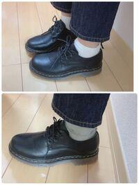 どちらの方があいますか…? どちらも合わないなら、どんな靴下がいいですかね?くるぶし? ファッションセンス皆無なのでお手柔らかに宜しくお願いします…