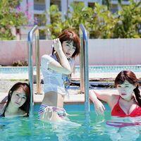 中田花奈 写真集を出しましたが胸が少し小さくなったのでしょうか   数年前のメンバーの水着写真ではスイカでしたが