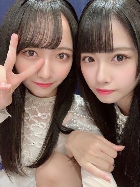 STU48のメンバーについて この写真の右の子は中村舞さんで合ってますか? 左は石田千穂さんだと分かるのですが…