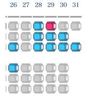 飛行機の座席に詳しい方お願いします!  画像をご覧ください。 飛行機後方の座席表になります。 31列目について質問なんですが、隣の席がないから人気あるんじゃないの?と思っていたので埋まってないことは他...