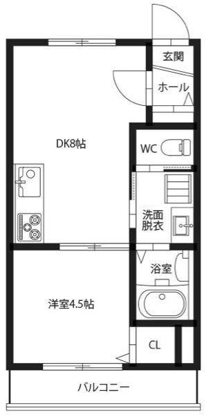 コンクリート打ちっぱなしの部屋なのですがこの様な間取りの場合どのようなインテリアにしますか?