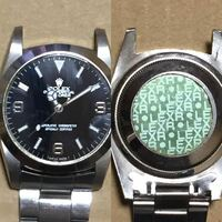 このロレックスが本物かどうか知りたいです。 時計ど素人なので全くわかりません。 後ろに見づらいですが18239と書かれてます。 あと、もう一つ書いてありますが 良くわかりません。