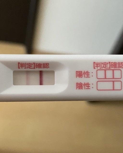 生理予定日5日過ぎなんですが、これは陽性で合ってますか? 前回、化学流産をしているので排卵日がズレたのか薄いような気がして心配です。