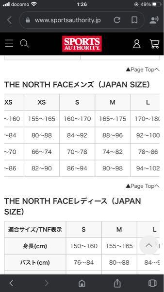 ノースフェイスのマウンテンライトジャケットを買おうと思っています。身長165センチの51キロだとS