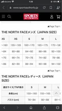 ノースフェイスのマウンテンライトジャケットを買おうと思っています。身長165センチの51キロだとSサイズとMサイズどちらがいいでしょうか。中にパーカーなど着ようと思っています。