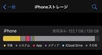 ストレージのその他が増える原因と消し方を教えてください。 画像の通りiPhoneの本体ストレージのその他が増えて困っています。iPhone11の128GBでIOS14.0.1を使っています。自分なりに対処法を調べ試したものの、...