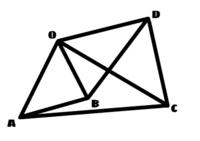 数学の証明の問題です。  下の図で、△OAB∽△OCDのとき、△OAC∽△OBDとなることを証明しなさい。 という問題です。 証明と解説をしていただけないでしょうか。