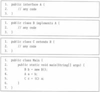次のコードをコンパイルで実行した時の結果が「Mainクラスの5行目を実行しているときに例外がスローされる」になりますが、 実行時に例外がスローされる理由がまったく分かりません。どなたか教えて下さい!