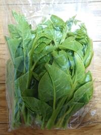 この野菜は何ですか? 閲覧ありがとうございます。 近所の野菜の自販機で買いました。 葉はつやつや光っています。 なんとなく購入してしまいましたが名前が分からず、調理法を検索できません。  ご存知の方いら...