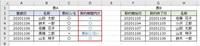 Excelの関数の質問です。 表Aの人が表Bに存在する(=C列が〇の人)場合、該当者の「登録日(A列)」が表Bの「契約開始日(F列)」と「契約終了日(G列)」の範囲内かどうかを表Aの「契約範囲内か(D列)」に返す式を教えてください。  ちなみにA列の日付は「文字列」でF列とG列の日付は「数値」です。 (表示形式は事情があり変更できませんが、日付として認識させたいです) 環境はMicrosof...