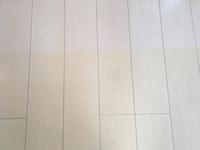 フローリングの変色について質問です。 カーペットやキッチンマット、プラスチックや木のタンスを置いていた床が一面、写真のように黄色くなっているのですが、これは塗料やワックスによる黄変なのでしょうか? 賃貸に住んでおり、数日後に立ち合いがあります。この場合は借主側に過失があるのかが知りたいです。 床は木材で白色です。黄色くなってる箇所はいずれも窓側で日が当たります。 黄色く変色してない箇所...
