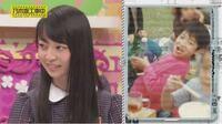 左:加入当時の乃木坂46・阪口珠美ちゃん。 右:幼少期の阪口ちゃんのお父さん。  顔が似ていると思いますか?