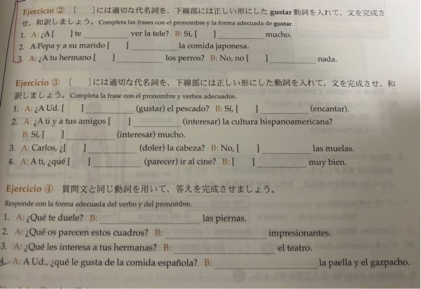 今年1年の女子大生です! スペイン語の授業がだんだん難しくなってきて、学校に友達も居ず、、、課題の答えが教科書を読んでも分かりません 。復習のために訳もお願いしたいです...! スペイン語習得済...
