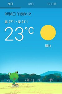 の 予報 カエル 天気
