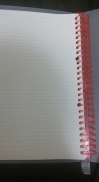 この文房具の商品名がしりたいです。 ルーズリーフが挟めるやつ 青とピンクの2種類あったと記憶しております。 調べても分からなかったので質問させていただきました。