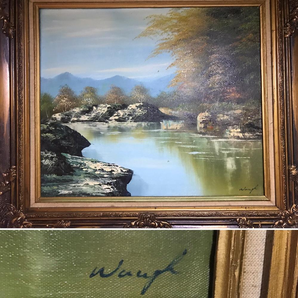 この風景画のサインは、誰のものだか、分かる 方、よろしくお願いします。