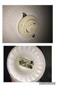 ローゼットに対する照明の取り付けについて教えてください。 引っ掛けシーリングの照明を購入し、引っ掛けようとしたところ、部屋に設置されていたのはローゼットと呼ばれる、横に金具が付いたものでした。  しかし購入した照明は、パナソニック 角型引掛シーリングキャップ ミルキーホワイト WG7001Wが中に入って丸い囲いがあるものだったため、金具が邪魔で引っ掛けられませんでした。  ネットで調べると、...