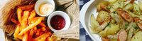 フライドポテトとジャーマンポテトとですと 貴方はどちらのポテトを食べたいですか?
