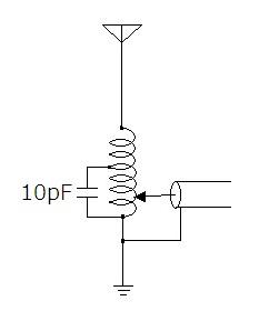 アマチュア無線、画像のロッドアンテナにおいて給電点をアンテナ側に寄せてもコンデンサをGND側に寄せてもSWRのボトム周波数が高くなる理由を教 えてください。なお、ロッドとSMAコネクタを接なぐス...