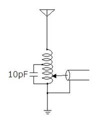 アマチュア無線、画像のロッドアンテナにおいて給電点をアンテナ側に寄せてもコンデンサをGND側に寄せてもSWRのボトム周波数が高くなる理由を教 えてください。なお、ロッドとSMAコネクタを接なぐスプリングをそのままインダクタとして使っているVHF用のアンテナです。  検索してもDPほど理論的な説明がされたものが見つからず結果論ばかりで理解するに難儀しています。各OMご推薦の「ハムのアンテナ技術...