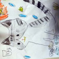 こんな猫が出てくる絵本の題名わかる方いらっしゃいますか?