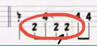 ここのフレーズを4弦ベースで弾けますか?