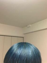 エンシェールズのカラーバターでネオンブルーに3、4日前に染めました、が結構綺麗に入ったんですけどあまり気に入らず色を変えたくなってしまいました。同じくエンシェールズのダークシルバー(ほぼ黒らしい)があ...