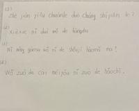 これらの中国語の問題が分からないので 簡体字表記と日本語訳教えていただきたいです。