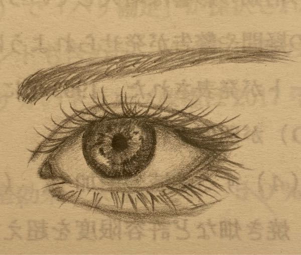 シャーペンで目を描いてみました。(デッサンではなく想像です笑) アドバイスお願いします(o_ _)o