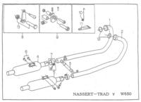 マフラーの排圧についてお聞きします。 カワサキW650、マフラーをBEET ナサートトラッドに交換してあります。 構造は左右2本出し対称のマフラーだと思いますが、アイドリング~多少スロットルを開けたとき左右の排圧が違う様な感じです、、右が10としたら左が9ぐらいの感じです。 排気漏れもないです。 この程度は許容の範囲内なのでしょうか?また、原因は?このままで弊害はないのでしょうか? ...