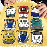 息子の新幹線シリーズのシャツです。 これなに?と聞かれて種類がわかりません。  2.こまち 4.かがやき? 6.はやぶさ 7.ドクターイエロー  くらいはわかりますが他はなんでしょうか? よろしくお願い致します。