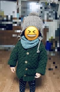 全てかぎ針編みで編みました❗️ 可愛いですか? カーディガンですが、自分用(大人用)で編んで普段で着ても変じゃないですか?