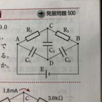 各コンデンサーの極板がどういう経緯で正負どちらの電荷を持つのか、解説お願いしたいです。