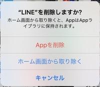 ホーム画面から取り除くを押したら、そのアプリのデータはどうなるんですか? 画像はLINEですが、あるゲームをホーム画面から取り除きたいと思っています。しかしデータは削除したくありません。  どなたか教えてください