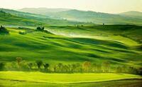 写真はヨーロッパの田舎の風景です。芝生が地平線まで広がっています。こういう場所は勝手に走り回ったり遊んだりしても大丈夫ですか?