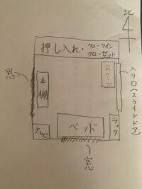 ジャンガリアンハムスターを水槽で飼っています。 ケージの置き場所についての質問です。  現在、2階の自室兼寝室でハムスターを飼っています。 ケージを置いている場所は写真の通りで、スライドドアが後ろを動き、横を人が通っている場所です。  本題です。 ケージの置き場所を本棚の位置の変更を検討しています。  窓際になるので温度変化もあると思いますが、それは現在の入口付近でも同じな気もしていて、直射...