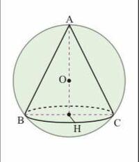 円錐の底面の半径が3、母線の長さが6です。この球の半径の求め方をどなたか教えて下さい。中学生でも解ける方法でよろしくお願いします。