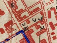 地図記号にくわしいかたにお伺いします。添付の写真は大正時代のものです。 地図中に数か所、黒い曲線で描かれているのは何を表しているのでしょうか。(ネットで調べましたら「岩」ではないか、とも思います。)よろしくお願いいたします。