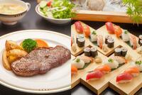 ステーキと寿司だったらどっちでお腹いっぱいにしたい? (^。^)b