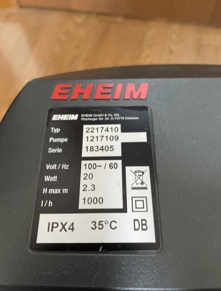 エーハイム外部フィルターの上部に記載されているラベルについて教えてください。添付画像(エーハイム2217)で言うと Typ:2217410 Pumpe:1217109 Serie:183405 これらが表す意味について、ご存知でしたら宜しくお願いします。中古を購入する際の参考になればと思っています。 併せて、上記+右下の二重□、DB、35℃についてもお願いします。 ※Typの上4桁は機種名、Serieの上2桁は製造年の下2桁(2018年製)かと予想しています。