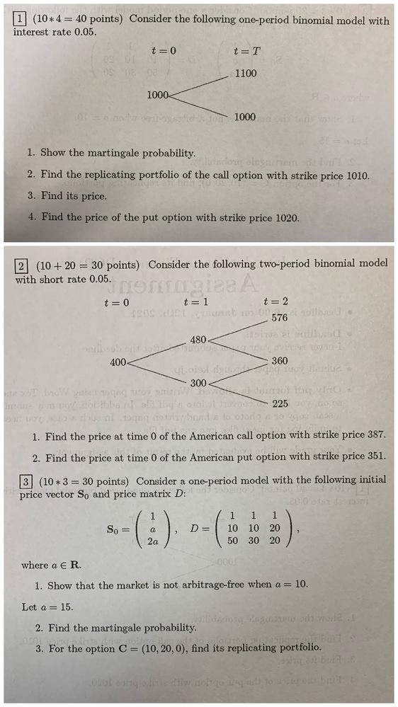 この問題の答えを教えていただきたいです。よろしくお願い致します。 よろしければ解法もご教授いただけると嬉しいです♪ #ファイナンス #マルチンゲール #オプション #ファイナンス理論 #数理フ...