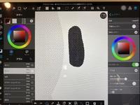 メディバンペイントのハーフトーンレイヤーについて。  上記について質問です。 これまでハーフトーンレイヤーを使用するときは、画像左のように白地に黒ドットで使用しておりましたが、 突然画像右のように黒地に白ドットになってしまいました。 これはどちらも同じハーフトーンレイヤーに書いております。 設定は画像右端のようにしており、変えてないはずです。  どうやったら左のような白地に黒ド...
